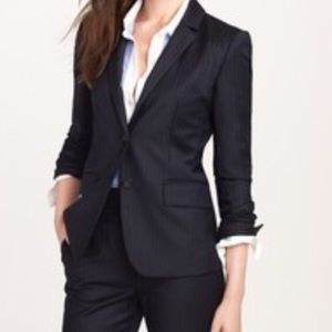 J.Crew 1035 Super 120s wool blazer, black, size 6